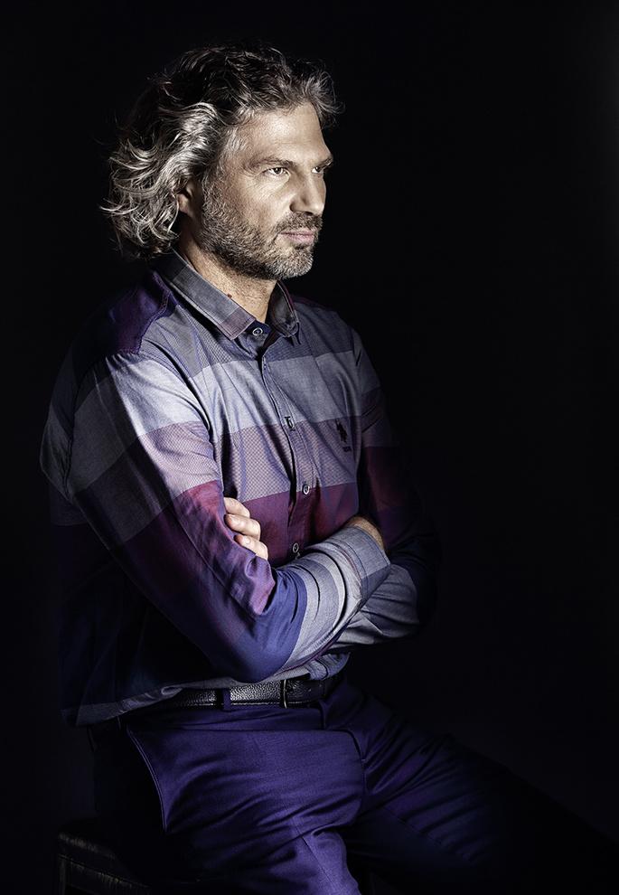 Рубашка U.S. Polo Assn., брюки и ремень Kanzler