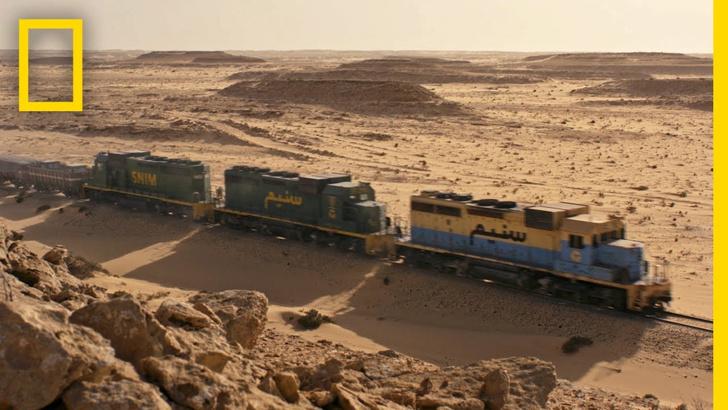 Фото №1 - Чарующее ВИДЕО о поезде, идущем через Сахару