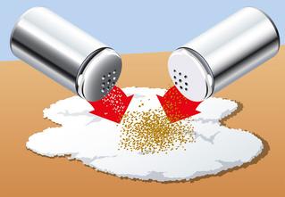Капитан Трюк: Отдели перец от соли, не прикасаясь к ним руками