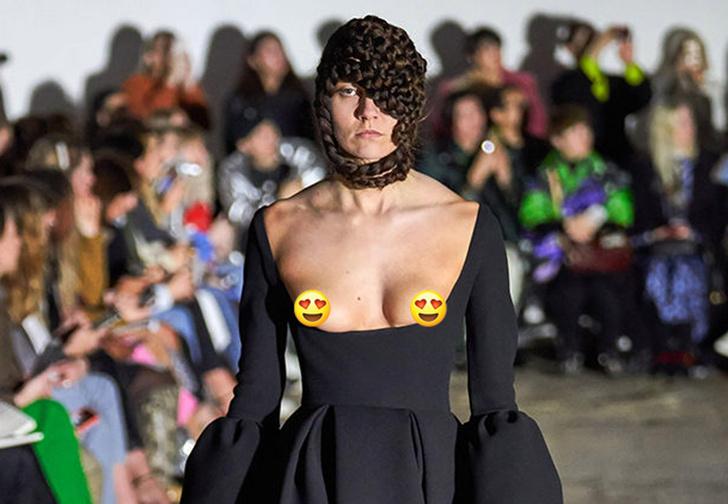 Фото №1 - «Декольтиссимо» — откровенный тренд прямиком с Лондонской недели моды