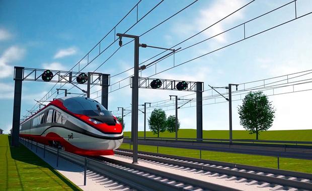 Фото №1 - РЖД показали концепт нового скоростного поезда (фото)
