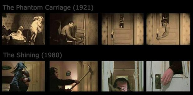 Фото №2 - Культовую сцену фильма «Сияние» Кубрик скопировал с древнего шведского кино (видео для сравнения)
