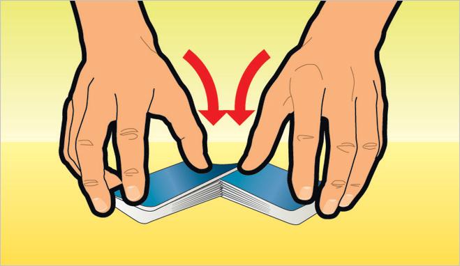 Научиться тасовать карты внахлест