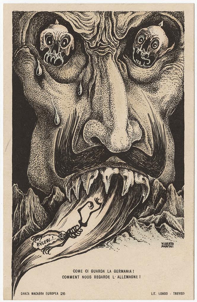 Фото №15 - Жутковатые карикатуры Первой мировой