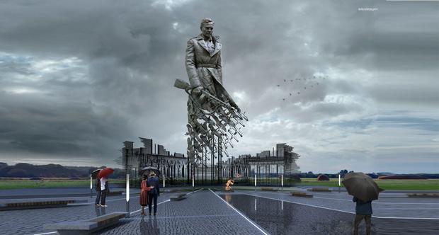 Фото №11 - Вот такой мощный памятник советскому солдату поставили подо Ржевом