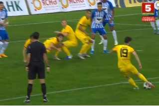 Великолепный гол в стиле Платини от хавбека белорусского клуба (видео)