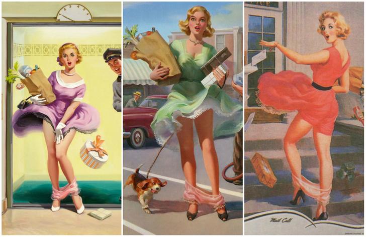 Фото №1 - Арт Фрам — художник, который прославился картинами девушек со спадающими трусами