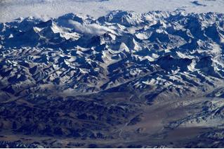 Как выглядят горы из космоса (галерея)