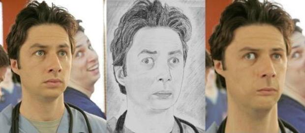 Фото №5 - Как бы выглядели знаменитости, если бы были похожи на портреты, нарисованные фанатами!
