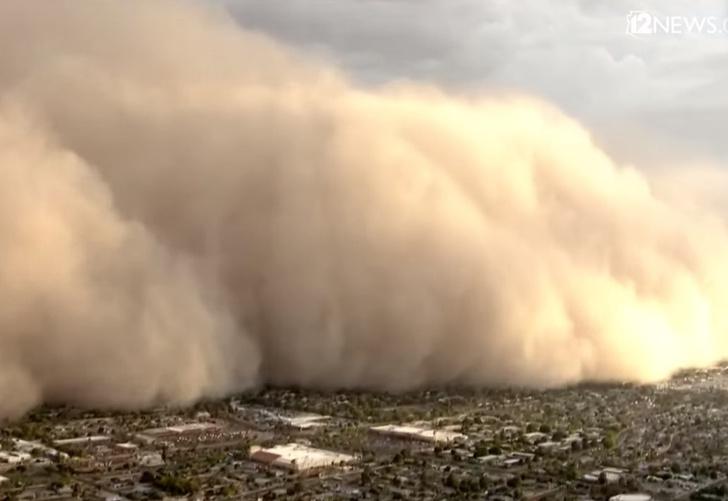 Фото №1 - Буря пылью небо (землю, дома, машины и т.д.) кроет! Апокалиптические ВИДЕО из США