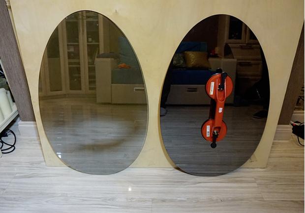 Вырезать зеркала