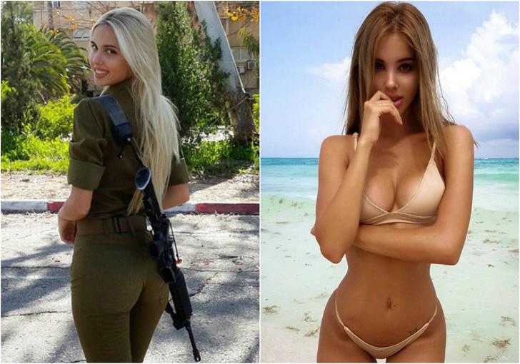 Фото №1 - 15 опасных фотографий бывшей израильской военнослужащей в купальнике
