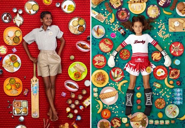 Фото №1 - Все, что едят дети в разных странах за неделю,в 52 фотографиях
