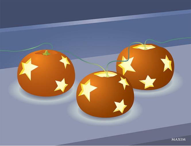 Горящие мандарины
