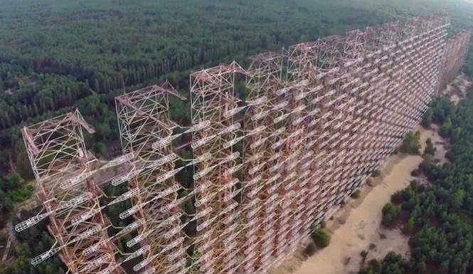 Смотри, как легендарная чернобыльская «Дуга» выглядит с воздуха. Не слышал о ней? Заходи, знакомься!