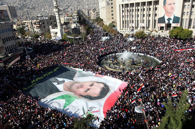 Митинги в поддержку президента Башара Асада в Дамаске. 29 марта 2011 г.