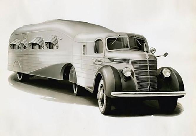 Фото №1 - Уникальный и роскошный автотрейлер из 30-х годов