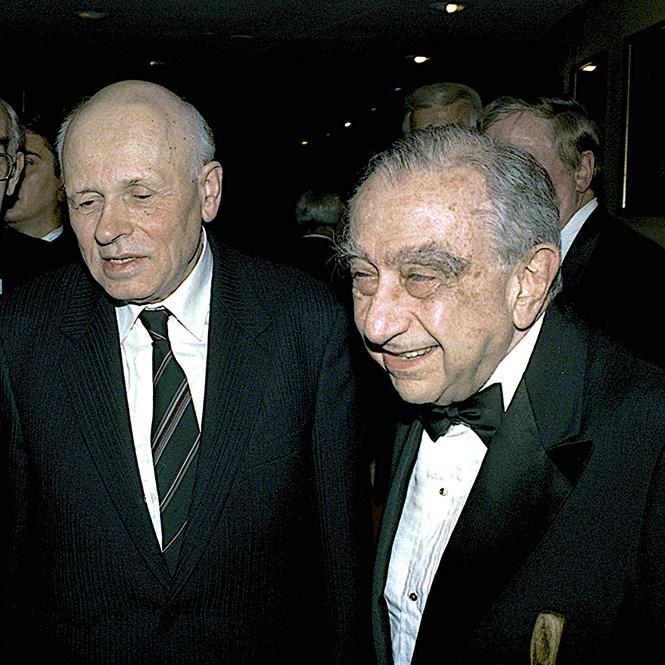 «Отцы водородной бомбы» Андрей Сахаров и Эдвард Теллер. Вашингтон, 1988 г.