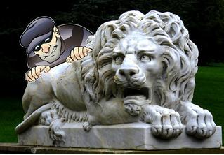 Похитившим статую льва ворам удалось избежать тюрьмы при помощи оригинального извинения