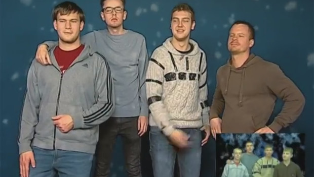Фото №1 - Пародии на гимн Нового года от группы «Стекловата» со всего света