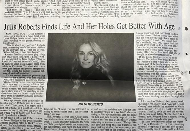Фото №1 - Из-за дикой газетной опечатки Джулия Робертс стала предметом шуток