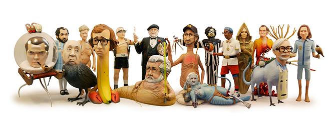 Фото №1 - Скульптор создает диковатые статуэтки знаменитых кинорежиссёров