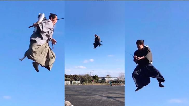 Фото №1 - Битва самураев с реактивными ранцами (ВИДЕО)