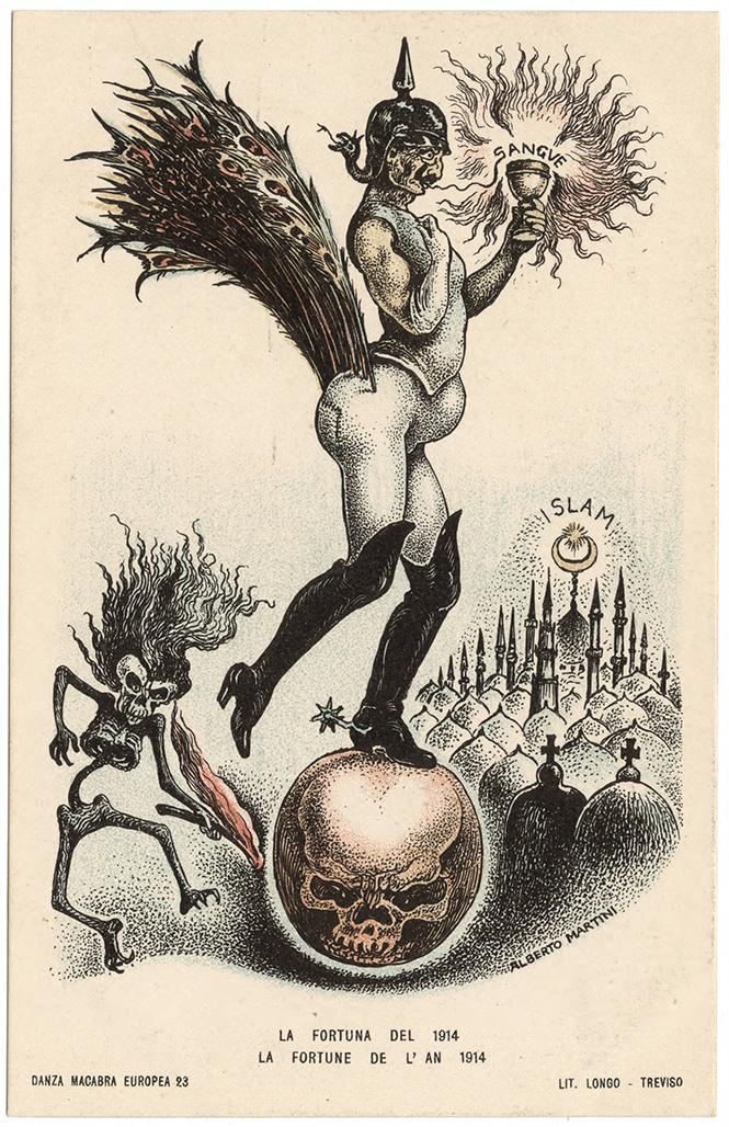 Фото №36 - Жутковатые карикатуры Первой мировой