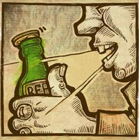 Пробудить вбутылке пива полтергейст