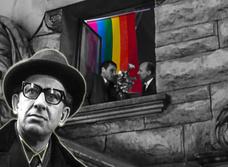 В Санкт-Петербурге полиция заставила жильцов снять с окна «ЛГБТ-занавески»