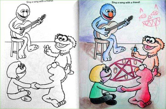Фото №2 - Я безбожник, я так вижу: Когда детская раскраска превращается в запрещенную литературу