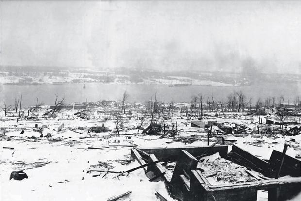 Пейзаж Галифакса два дня спустя после взрыва