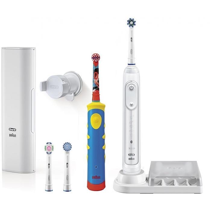 Набор электрических зубных щеток Oral-B GENIUS 8200/D701 + MICKEY D10