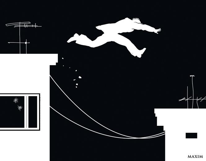 Прыжок с крыши на крышу