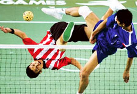 Волейбол ногами