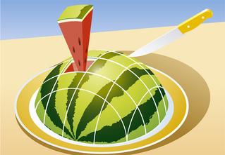 8 способов разрезать и съесть арбуз