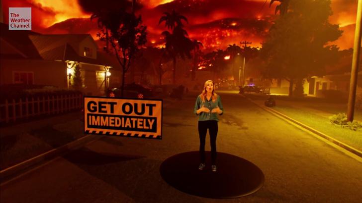 Фото №1 - Американский телеканал наглядно показал, как распространяются лесные пожары (видео)
