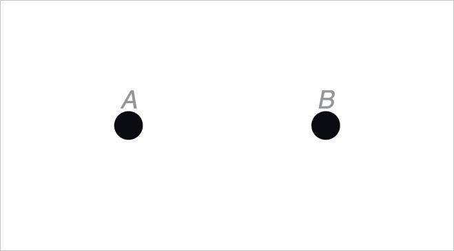 Две точки - оптическая иллюзия