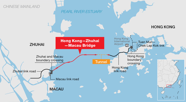 Фото №2 - Вот как выглядит самый длинный в мире морской мост, только что открытый в Китае (видео)