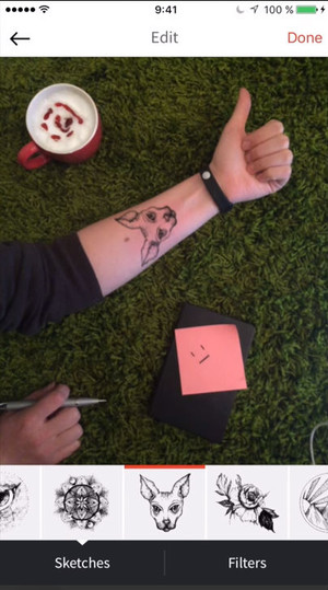 Фото №2 - Ink Hunter — приложение для примерки татуировок!