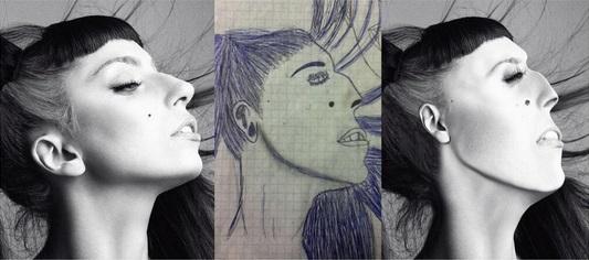 Фото №7 - Как бы выглядели знаменитости, если бы были похожи на портреты, нарисованные фанатами!