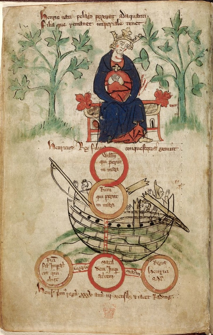 На картине: король Генрих I скорбит о гибели корабля и сына