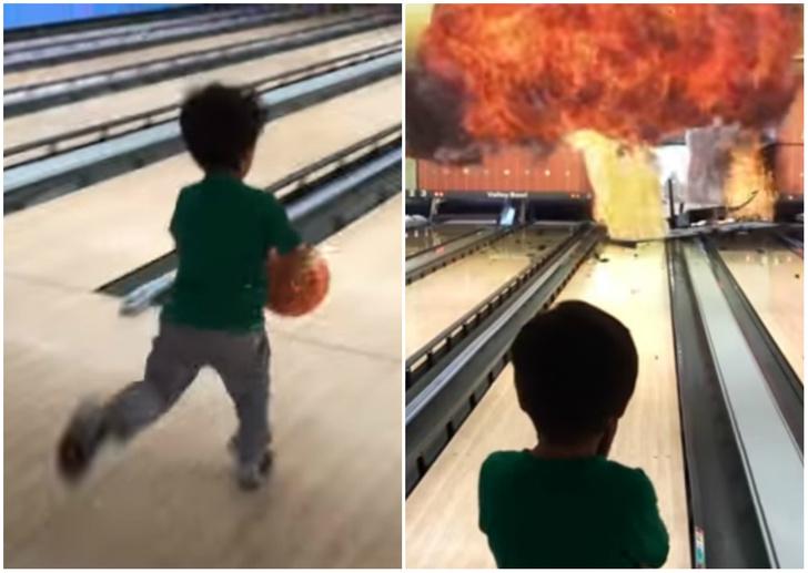Фото №1 - Художник-мультипликатор вставляет спецэффекты из блокбастеров в домашние видео с сыном