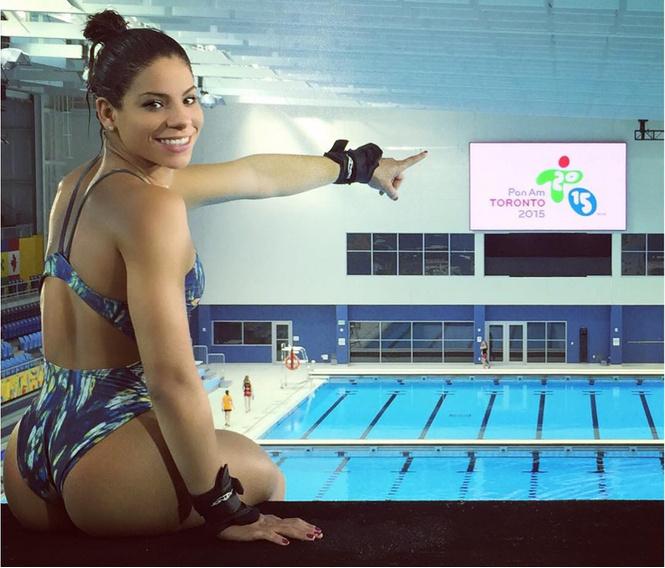 Ингрид Оливейра из сборной Бразилии по прыжкам в воду