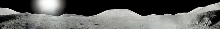 Фото №4 - NASA показало ранее не опубликованные панорамы, снятые во время высадки на Луну (фото)