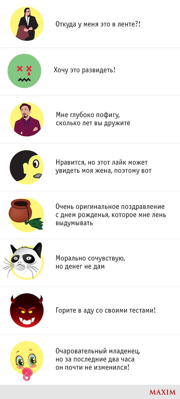 Смайлики Facebook, которые нужны нам на самом деле