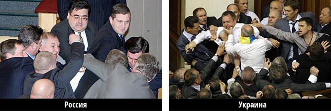 драка в думе и драка в украинской раде