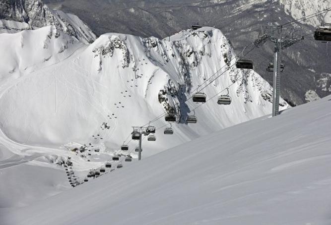 Горнолыжные склоны в Сочи