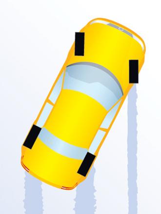 Сбрасывай газ на заднем приводе и слегка прибавляй на переднем