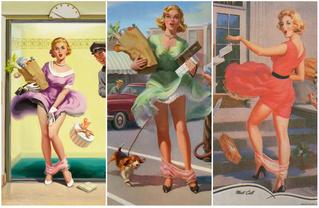 Арт Фрам — художник, который прославился картинами девушек со спадающими трусами